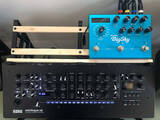 stand korg minilogue desktop and guitar pedals shelf stand strymon big